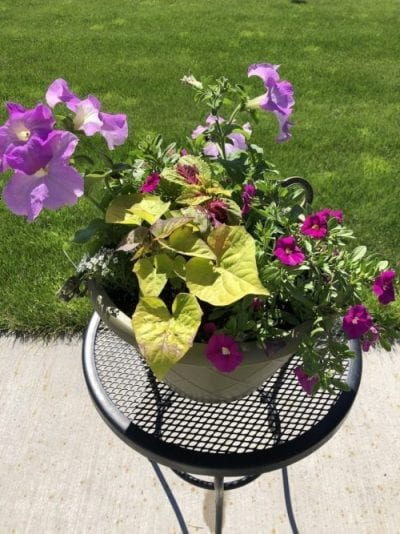 how to make patio containers